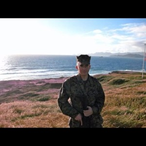 Farrell Gilliam in 2008, on a sea tour with 1st Battalion, 1st Marine Regiment.