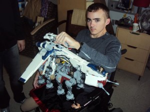 While in treatment during the summer of 2011 at the VA Palo Alto Polytrauma Center, Cpl. Farrell Gilliam stayed up all night building a Lego toy that he donated to a childrens program. Courtesy photo